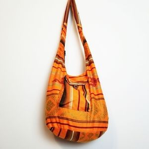 Orange Hobo Shoulder Bag